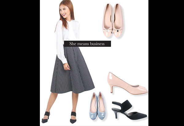 She means business: Glide from one meeting to another in these comfy pairs from Outland, Bata, Rockport, and Lifestride.