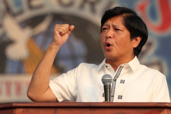 "Sen. Ferdinand ""Bongbong"" Marcos Jr. claims that he has been cheated in the May 9 elections. AP, File"