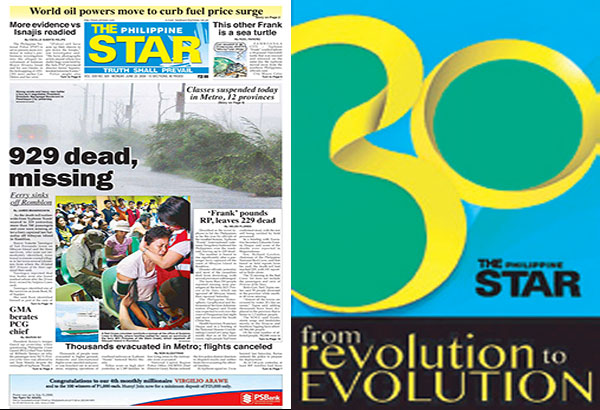 #Journey-to-30 traces the most significant milestones in our country's history as covered by The Philippine STAR. The series, which began on Jan. 3, runs until July 24, 2016, leading to The STAR's 30th anniversary on July 28, 2016.