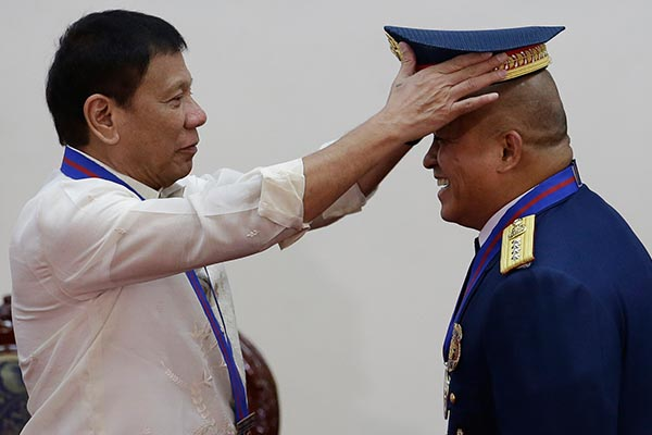 Image result for duterte with pnp bato