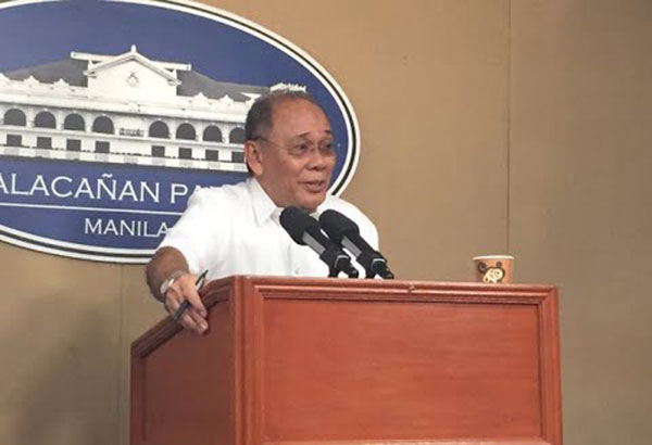 """Presidential spokesman Ernesto Abella said former presidents Fidel Ramos, Joseph Estrada, Gloria Macapagal-Arroyo and Benigno Aquino III had advised the National Security Council to tackle the issue with """"caution"""" and """"restraint."""" Youtube"""