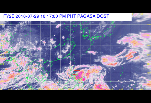 """""""The rest of the Visayas and the provinces of Albay, Sorsogon and Masbate are alerted against moderate to heavy rains, which may trigger flashfloods and landslides,"""" the Philippine Atmospheric, Geophysical and Astronomical Services Administration (PAGASA) said. Screen grab from pagasa.dost.gov.ph"""