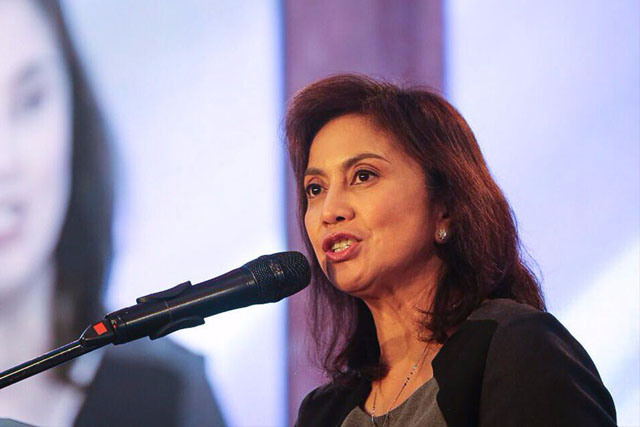 """Vice President Leni Robredo satisfaction rating jumped five points to """"good"""" +41 in the September SWS survey, from +36 in June. Office of the Vice President/Released, File"""