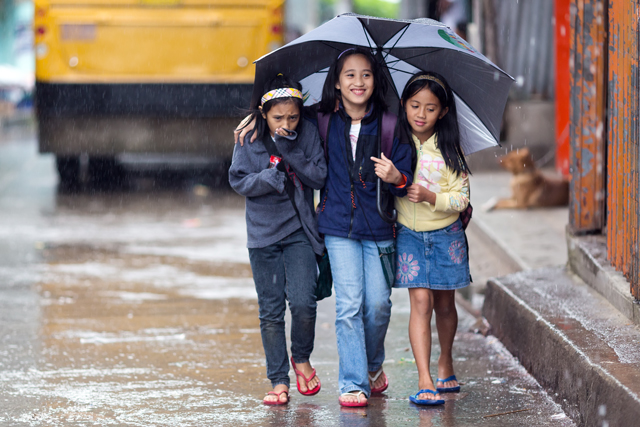 Some classes are suspended on Friday, July 28, due to bad weather.File photo