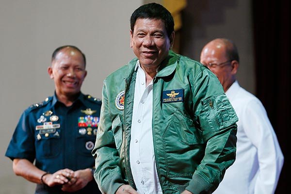 President Rodrigo Duterte can no longer be ousted for one year through the constitutional process of impeachment. AP Photo/Bullit Marquez, File