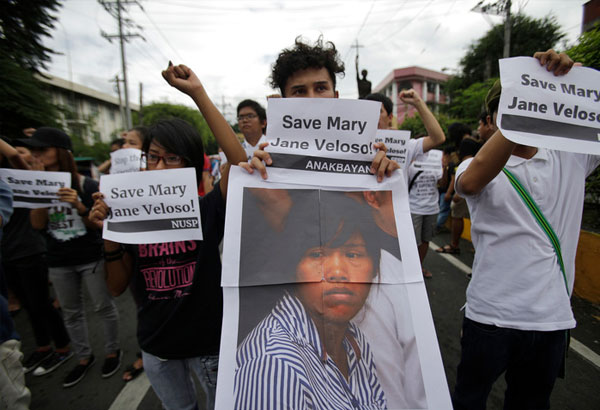 The 32-year-old Veloso, who is on death row in Indonesia, was convicted in October 2010 for drug trafficking. She was caught with 2.6 kilograms of heroin at an Indonesian airport.  AP Photo/Aaron Favila