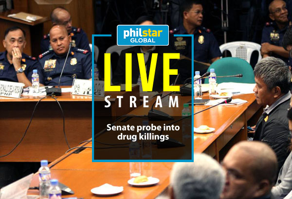 In this Sept. 15, 2016 photo, The Senate justice and human rights committee leads the hearing on the recent rise in extrajudicial killings and summary killings related to the government's drug war.Senate PRIB/Cesar Tomambo