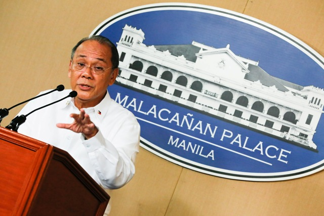 "Presidential Spokesperson Ernesto Abella said that the killing of a 17-year-old senior high school student in Caloocan City was ""happily isolated."" File"