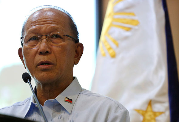 Defense Secretary Delfin Lorenzana on Saturday assured the public that the government will not declare martial law in Visayas or nationwide. AP/Aaron Favila, File