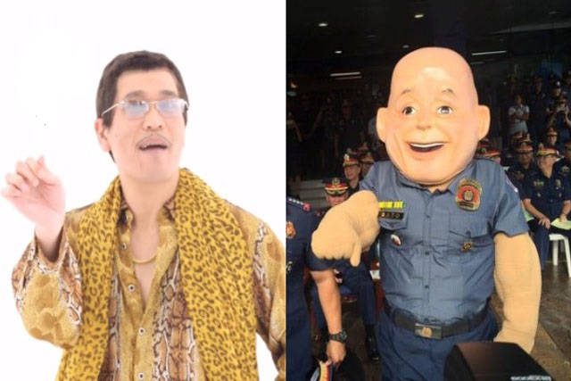 "Mascot PO1 Bato or ""Tsip Bato"" recently covered the viral Japanese song Pen-Pineapple-Apple-Pen (PPAP) song to promote drug awareness. PNP PIO and YouTube"