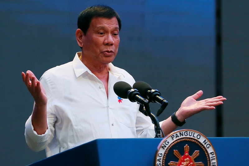 President  Duterte earlier agreed to the postponement of the SK and barangay elections, saying it would prevent narco-money from being used for the campaign and election of barangay officials linked to illegal drugs. AP/Bullit Marquez, file