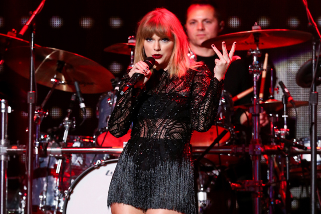 Taylor Swift performs at DIRECTV NOW Super Saturday Night Concert at Club Nomadic on Saturday, Feb. 4, 2017 in Houston, Texas.Photo by John Salangsang/Invision/AP