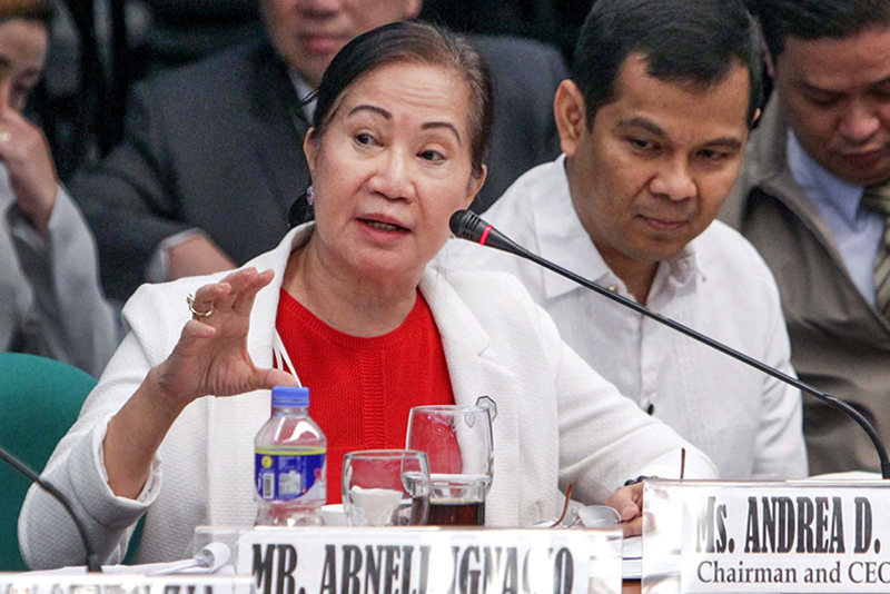Pagcor chair Andrea Domingo told lawmakers on Wednesday that Resorts World president Kingson Sian has verbally conveyed to her the integrated resort's desire to have its casino license back so it could start gaming operations. GEREMY PINTOLO/File