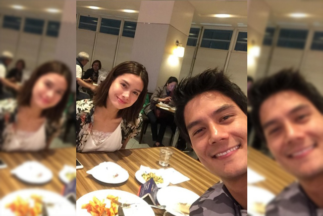 Former lovers, Erich Gonzales and DanielMatsunaga, were all-smiles in a selfie posted by handler, Love Capulong. Instagram.com/Love Capulong