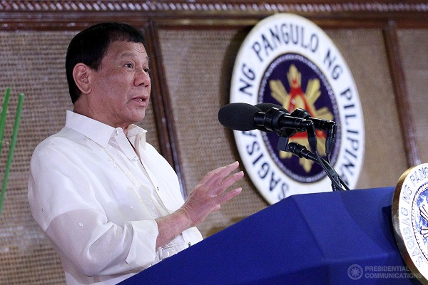 President Rodrigo Duterte said he would not give in to the demand of the communist rebels, who have been waging an armed struggle against the government for five decades. PCOO/Richard Madelo, File