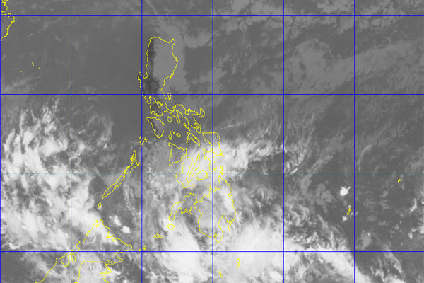 Satelite image showing cloudy skies.PAGASA-DOST/Released