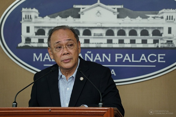 "Presidential Spokesperson Ernesto Abella said that the administration of President Rodrigo Duterte needs to intensify its response to address poverty in the country after the latest SWS Survey recorded that 50 percent of the Filipinos rated themselves as ""poor."" PCOO/King Rodriguez"
