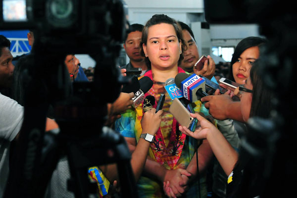 "Presidential daughter and Mayor Sara Duterte-Carpio slammed the Communist Party of the Philippines-New People's Army (CPP/NPA) for calling her a ""mini dictator"" after she issued a guideline for Dabawenyos now that Mindanao has been placed under martial law by President Rodrigo Duterte. Davao City Government/Released"