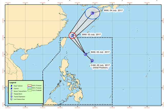 Tropical Storm Emong moving away from PH, toward Japan