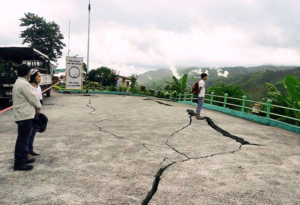 Two people died in the quake  in the Philippines