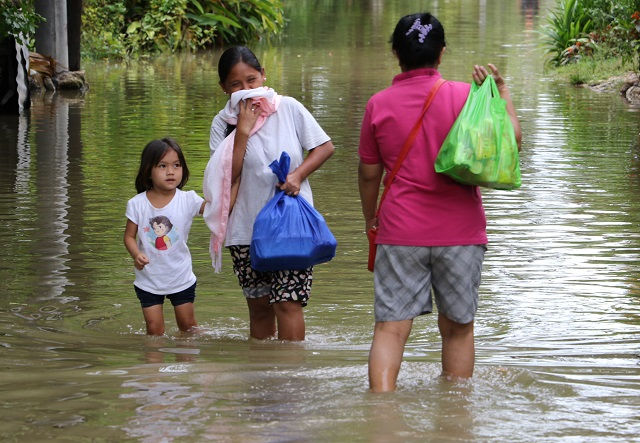More than half of the 37 barangays in Cotabato City are now flooded after rivers nearby overflowed due to heavy rains. JOHN UNSON