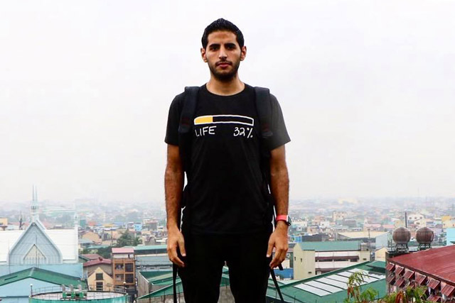 "Israeli Nuseir Yassin, popularly known for his one-minute videos as Nas Daily braved Marawi City wearing a bullet-proof vest to show his viewers ""stories of love, peace and sacrifices."" Nas Daily / Facebook, file"