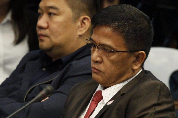 In this Aug. 15, 2017 photo, Customs Commissioner Feldon attends a Senate probe on alleged irregularities surrounding the entry of P6.4 billion in shabu that entered the country. Senate PRIB/Romy Bugante, file