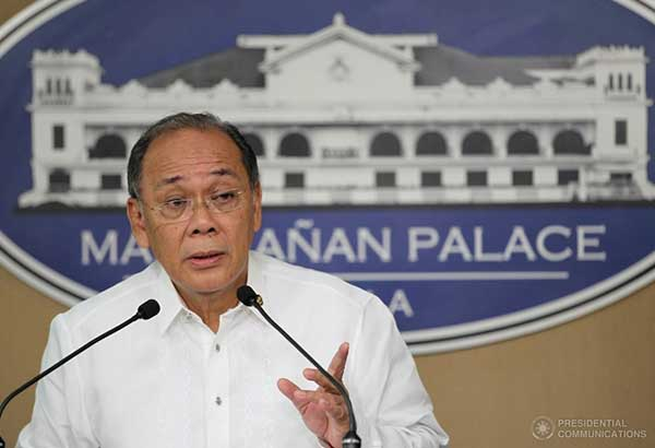 """We don't have any reports on that,"" presidential spokesman Ernesto Abella said when asked to react to the possibility of Estrada becoming a state witness. Presidential Photo/King Rodriguez, File"