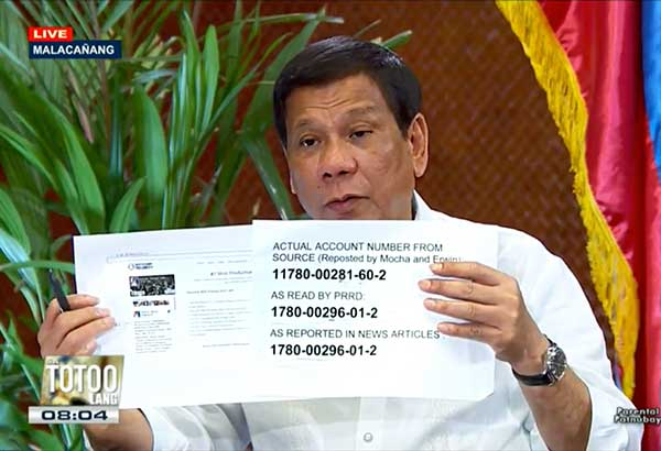 Duterte admits: 'I invented Trillanes' Singapore bank account to trick him'