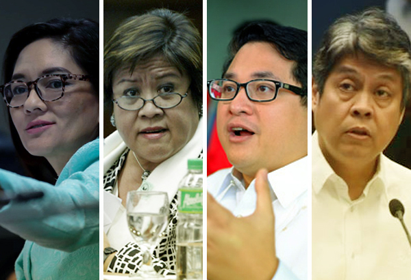 Senators of the minority caucus in the Senate called on Filipinos to be more vigilant amid the creeping threats of 'Dutertadorship.' Philstar.com/Jonathan Asuncion