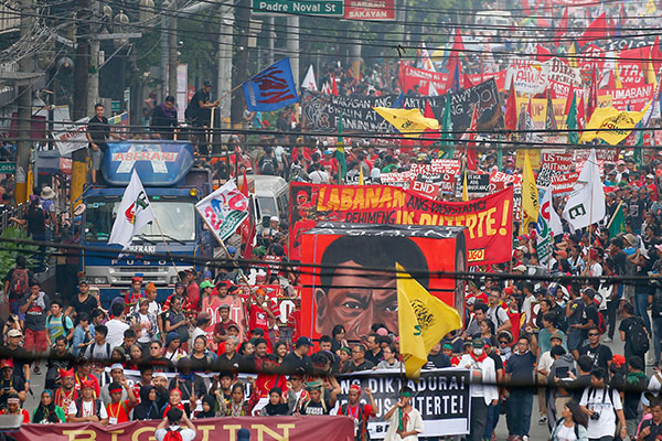 The Philippines' 'Day of Protest' in photos and videos