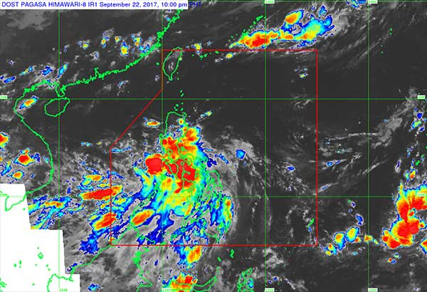 As of 4 p.m. yesterday, a low-pressure area was spotted 190 kilometers east of Legazpi City in Albay, according to the Philippine Atmospheric, Geophysical and Astronomical Services Administration (PAGASA). Screengrab from pagasa.dost.gov.ph