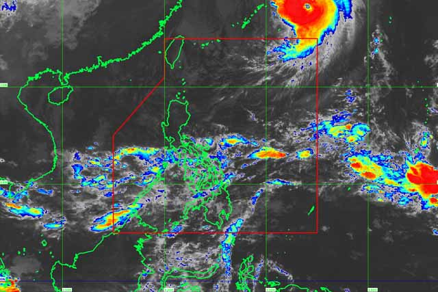 Satellite image of Typhoon Paolo as of 9:30 a.m., Oct. 22, 2017. PAGASA/Released