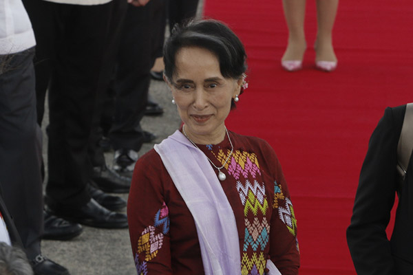 Myanmar's map Suu Kyi was awarded the 1991 Nobel Peace Prize for her