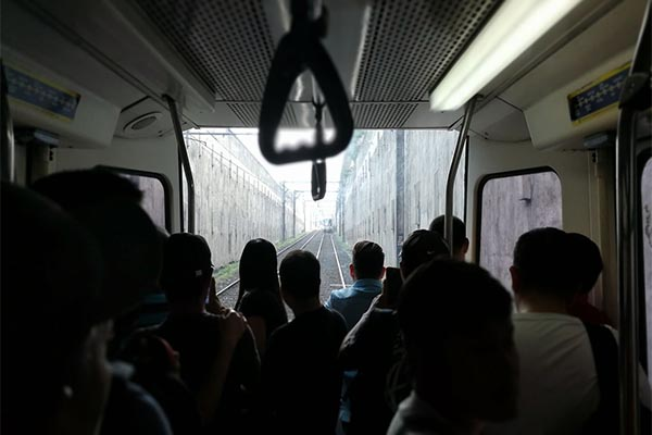 At around 9:12 a.m. on Thursday, two MRT coaches were detached from the main train pulling it, leaving around 130 to 140 passengers stranded. Ivan Caballero Villegas