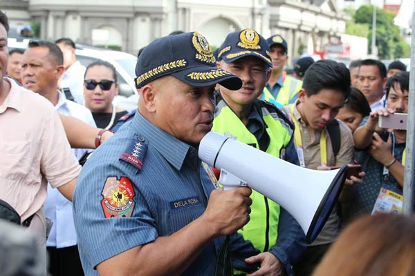 """DelaRosa said the criminals who were on the run and in hiding due to PNP's anti-drug operations are now resurfacing and bragging that the police force can no longer touch them as the Philippine Drug Enforcement Authority is now the """"sole agency"""" in charge of drug war. PNP photo"""