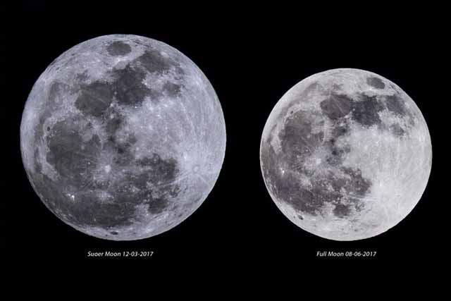December supermoon dazzles in morning sky