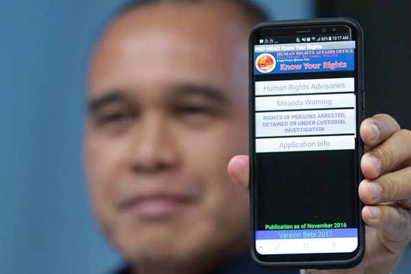 PNP Human Rights app 'fixed' to address privacy concerns