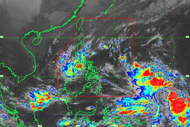 Satellite image of Tropical Depression Urduja as of 8:00 a.m. PAGASA/Released