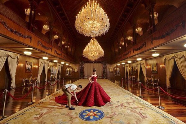 Presidential granddaughter Isabelle Duterte was criticized over her pre-debut photoshoot held in Malacañan. Lito Sy/Rita Neri Event Planners Facebook