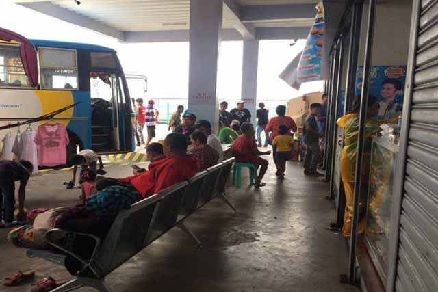 "Only, 2,900 passengers were left stranded by Tropical Depression ""Urduja"" according to Philippine Coast Guard. Philippine Coast Guard/Twitter"