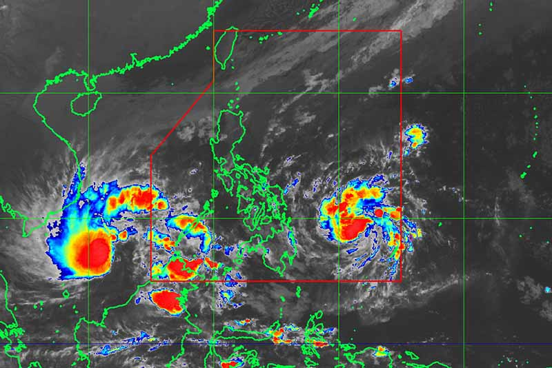Low pressure area off Surigao del Sur now Tropical Depression Vinta