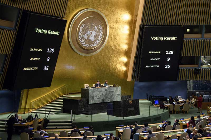Philippines abstains as United Nations votes to rebuke Trump's Jerusalem decision