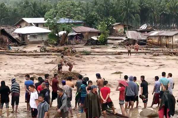 Storm in southern Philippines leaves at least 50 dead