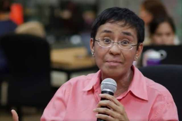 In this Jan. 15, 2018 photo, Rappler chief Maria Ressa addresses the members of the press over the issue on Securities and Exchange Commission's order.Screenshot from Rappler press briefing