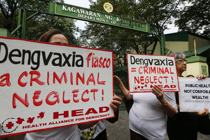 """According toWHO country representative Gundo Aurel Weiler, they have not done independent studies on Dengvaxia, but based on clinical trials conducted by its manufacturer Sanofi Pasteur, """"there were no different hones of dengue documented."""" AP"""