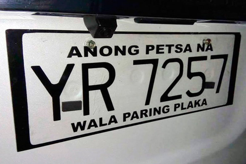 An image shared on Facebook by Top Gear Philippines and Kevin Rodriguez in 2016 shows an improvised plate with a conduction number 'indicating' when the car's license plate will be released.