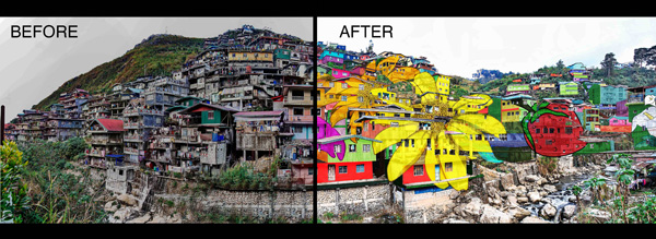 La Trinidad Residents Create First Biggest Community Artwork In The