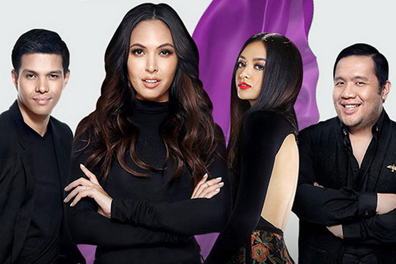 Philippines' Next Top Model: High Street host Maggie Wilson (second from left) with the reality TV show's judges (from left) Raf Kiefer, president of the Professional Models Association of the Philippines; Kylie Verzosa, 2016 Miss International; and Rain Dagala, editor-in-chief of Meg Magazine.