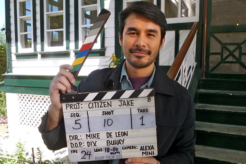 Atom in Baguio on the set of Citizen Jake, the comeback film (after 17 years) of director Mike de Leon. — PHOTOS by CESAR HERNANDO